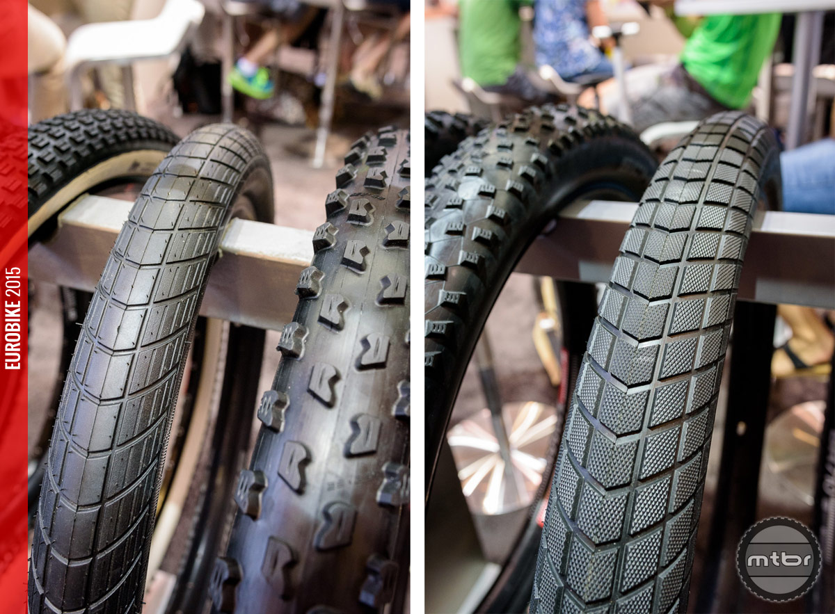 Schwalbe Big Street (left) and Super Moto-X (right).