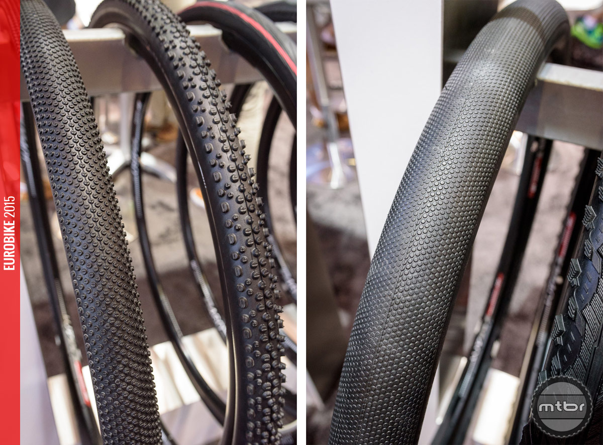 Schwalbe G-One and X-One (left) and the Big-One (right).
