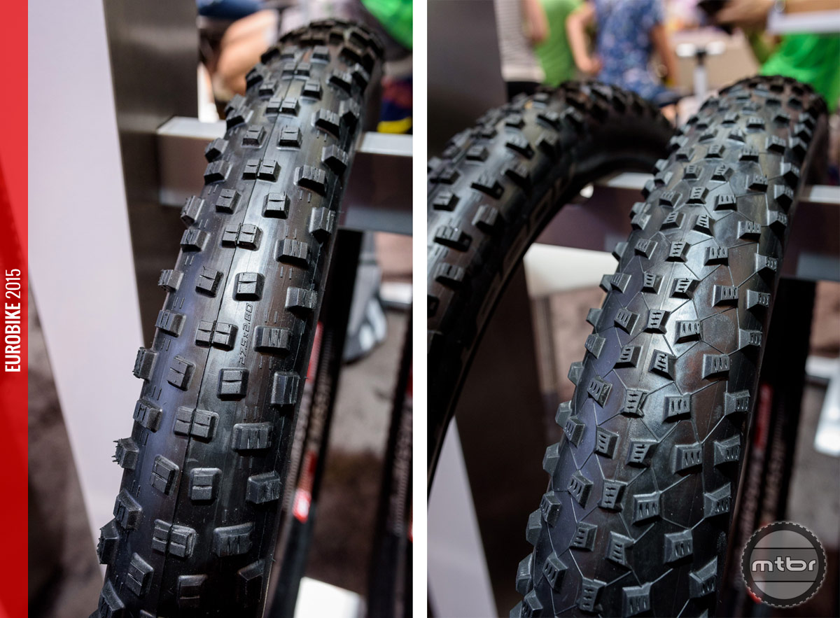 Schwalbe Nobby Nic (left) and Schwalbe Rocket Ron (right) in plus sizes.