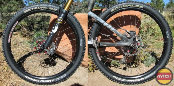 Schwalbe Magic Mary and Rock Razor Mounted