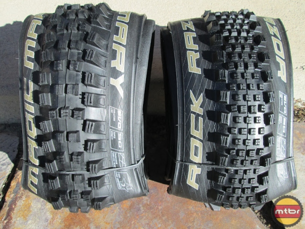Schwalbe Magic Mary and Rock Razor Side by Side