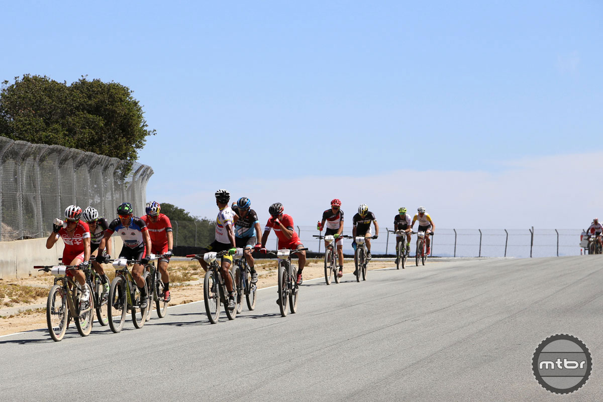 Racing at the Sea Otter Classic.