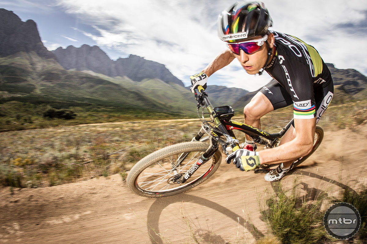 He's best known for being one of the world's best XC racers, but the Swiss rider can also whip a bike around like few others.