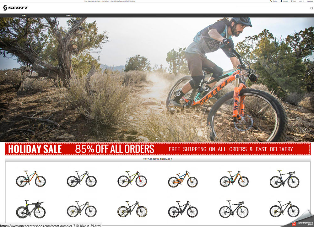 Fraudulent bike sales websites sweep social media