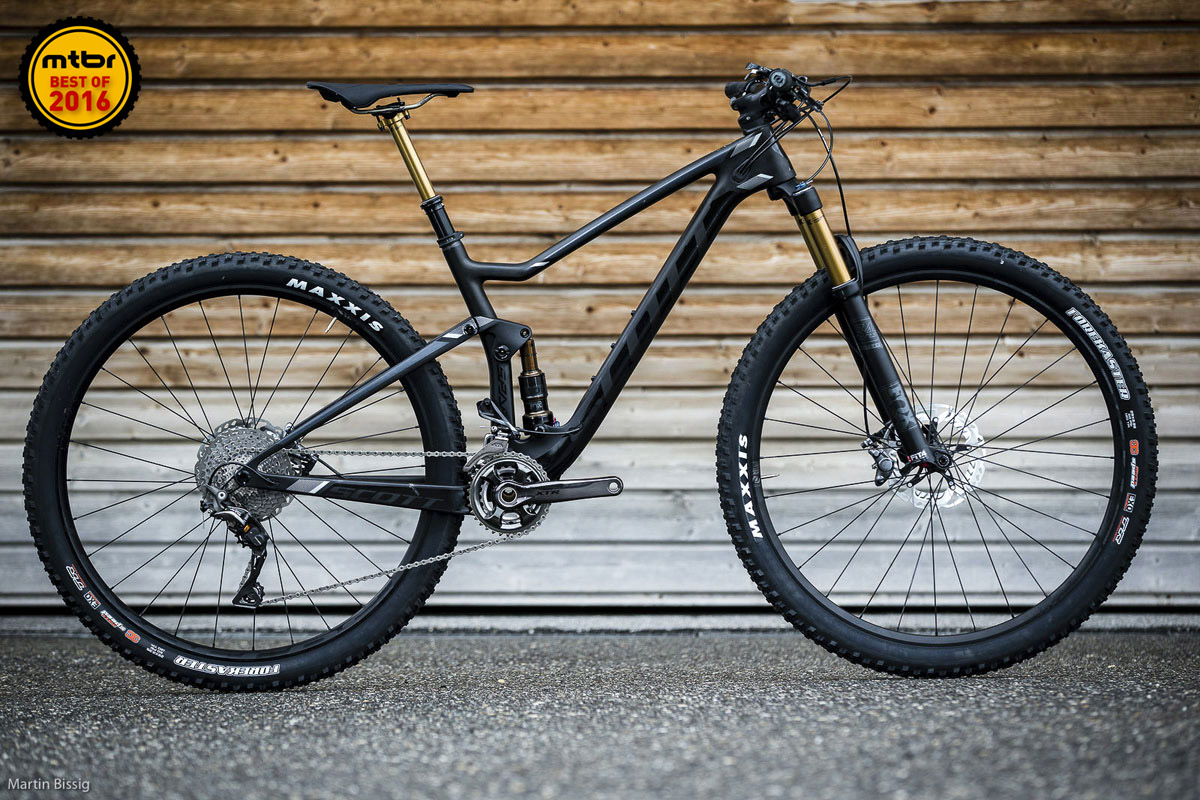 Slacker angles and stock spec dropper posts make the new Scott Spark a true do-it-all mountain bike.