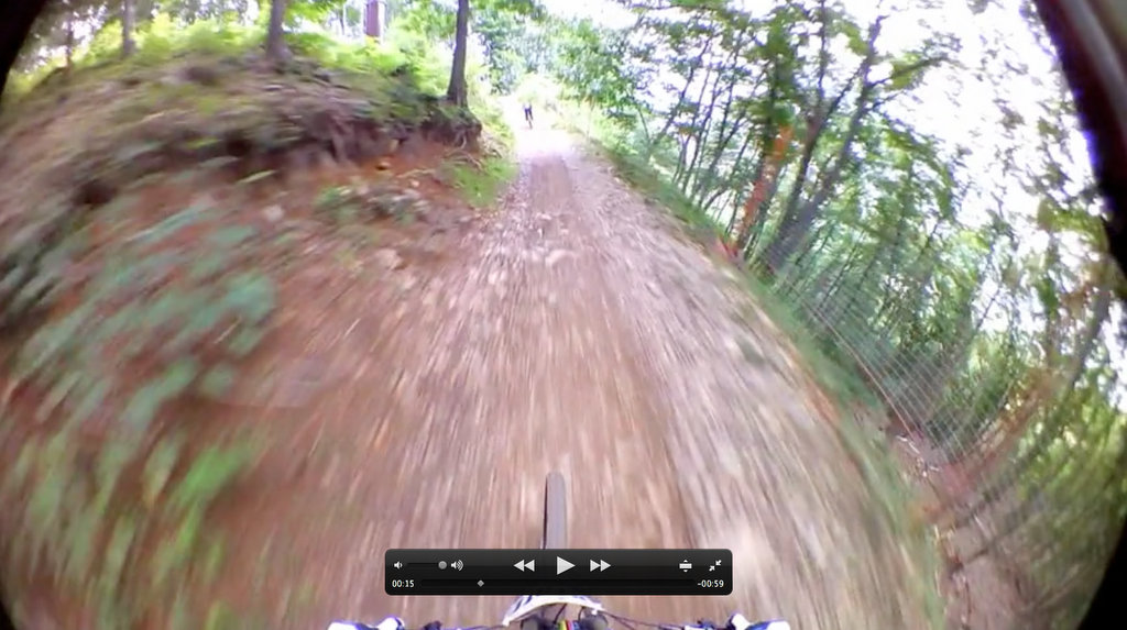 Shimano CM-1000 Screen Grab - High Speed Trail Shot