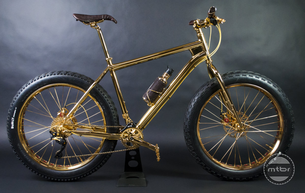 Gold Fat Bike side profile