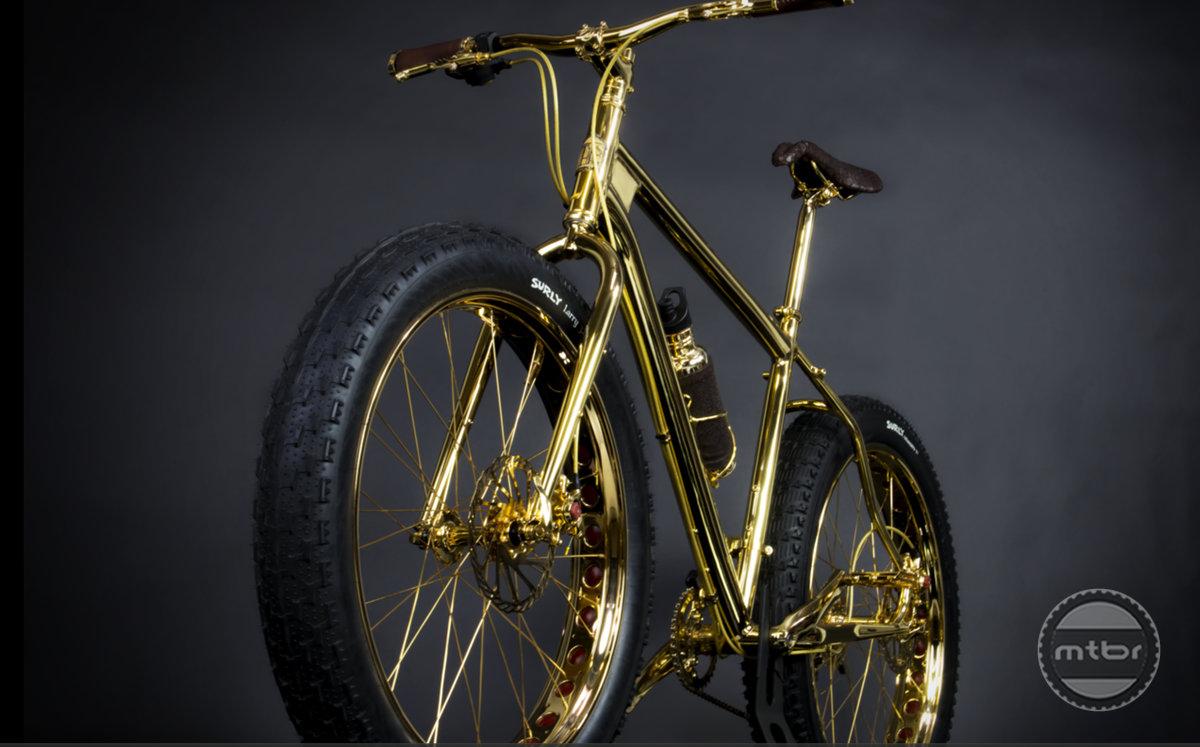 Gold Fat Bike front quarter