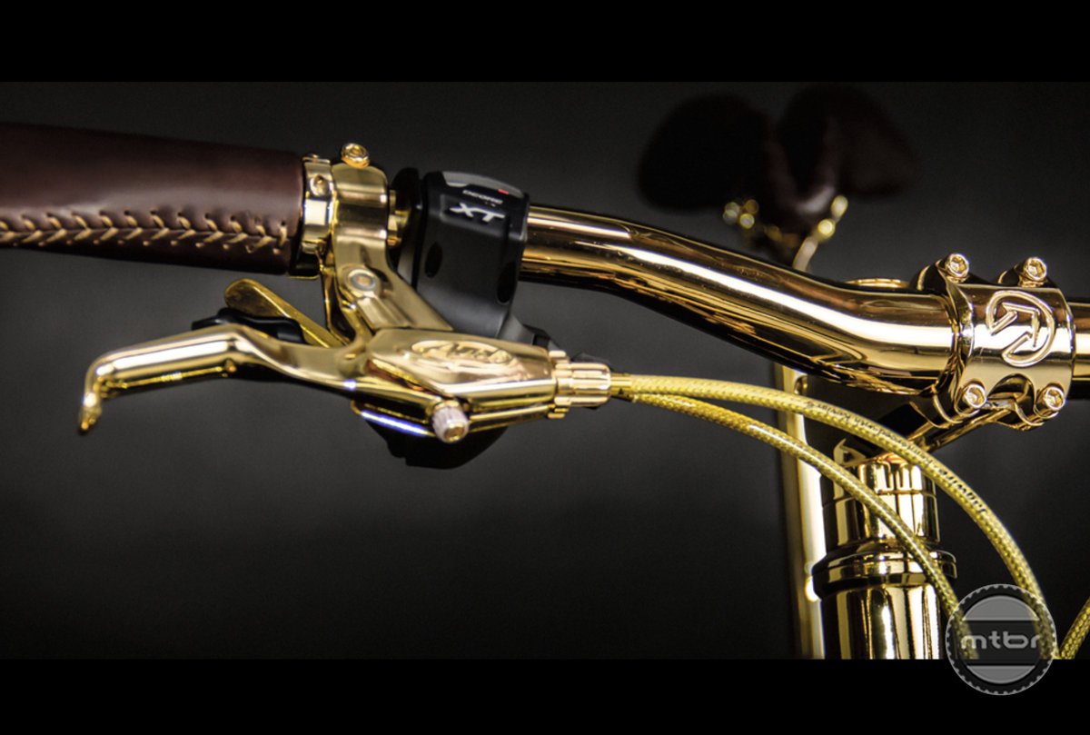 Gold Fat Bike controls