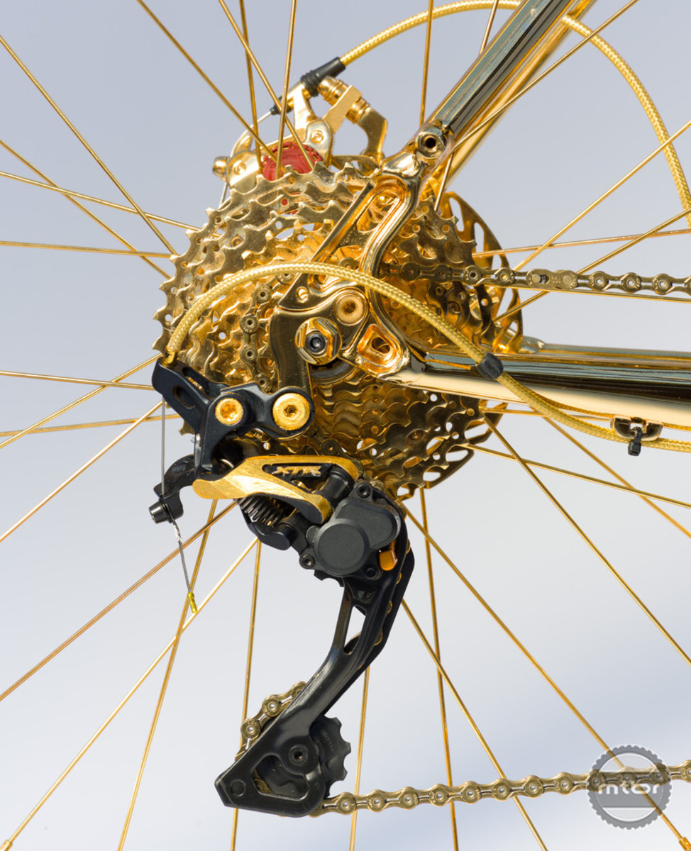 Gold Fat Bike derailleur