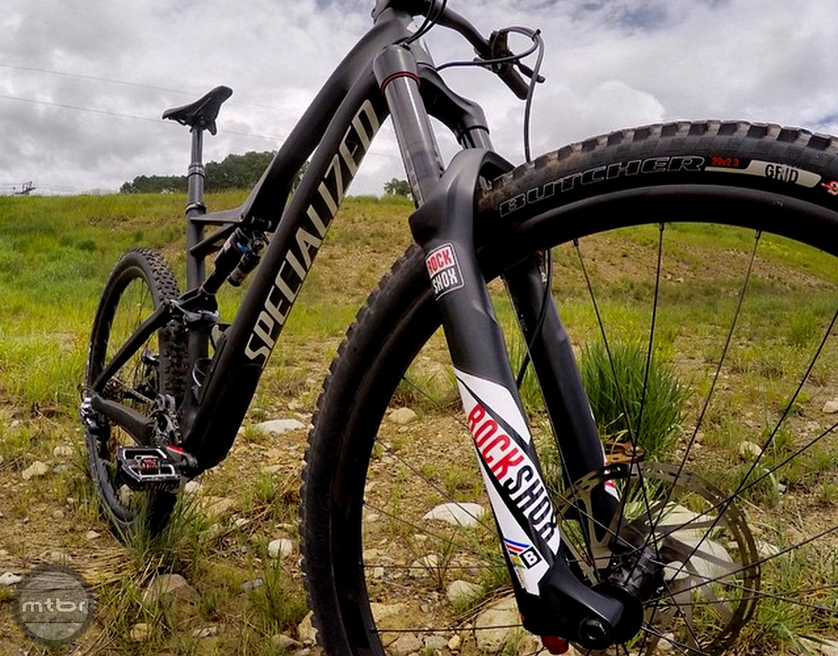 Curtis Keene has been testing and racing with the Rockshox Lyrik for a few months.