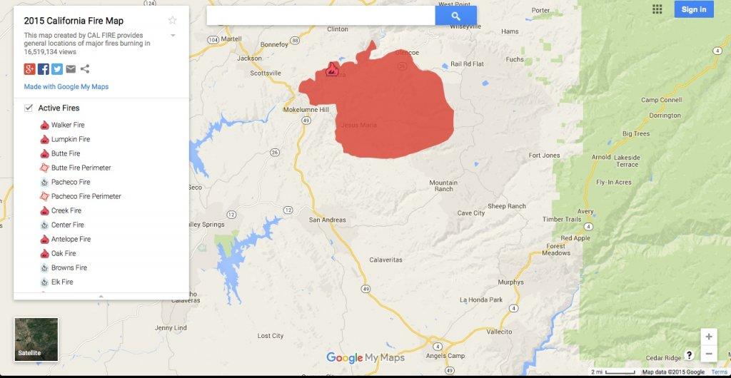 Butte Fire Calaveras County Mtbr Com