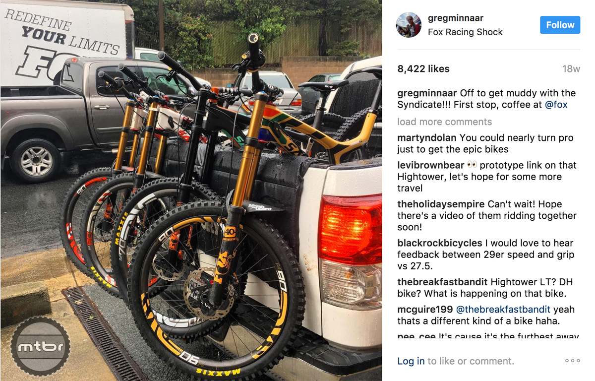 Greg Minnaar Hightower LT Prototype