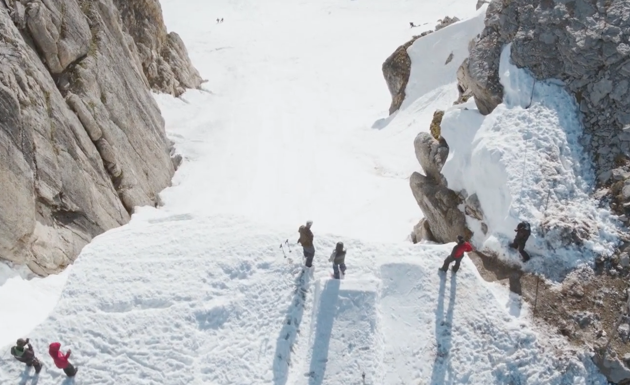 The drop in Corbet's Couloir is intimidating to say the least.