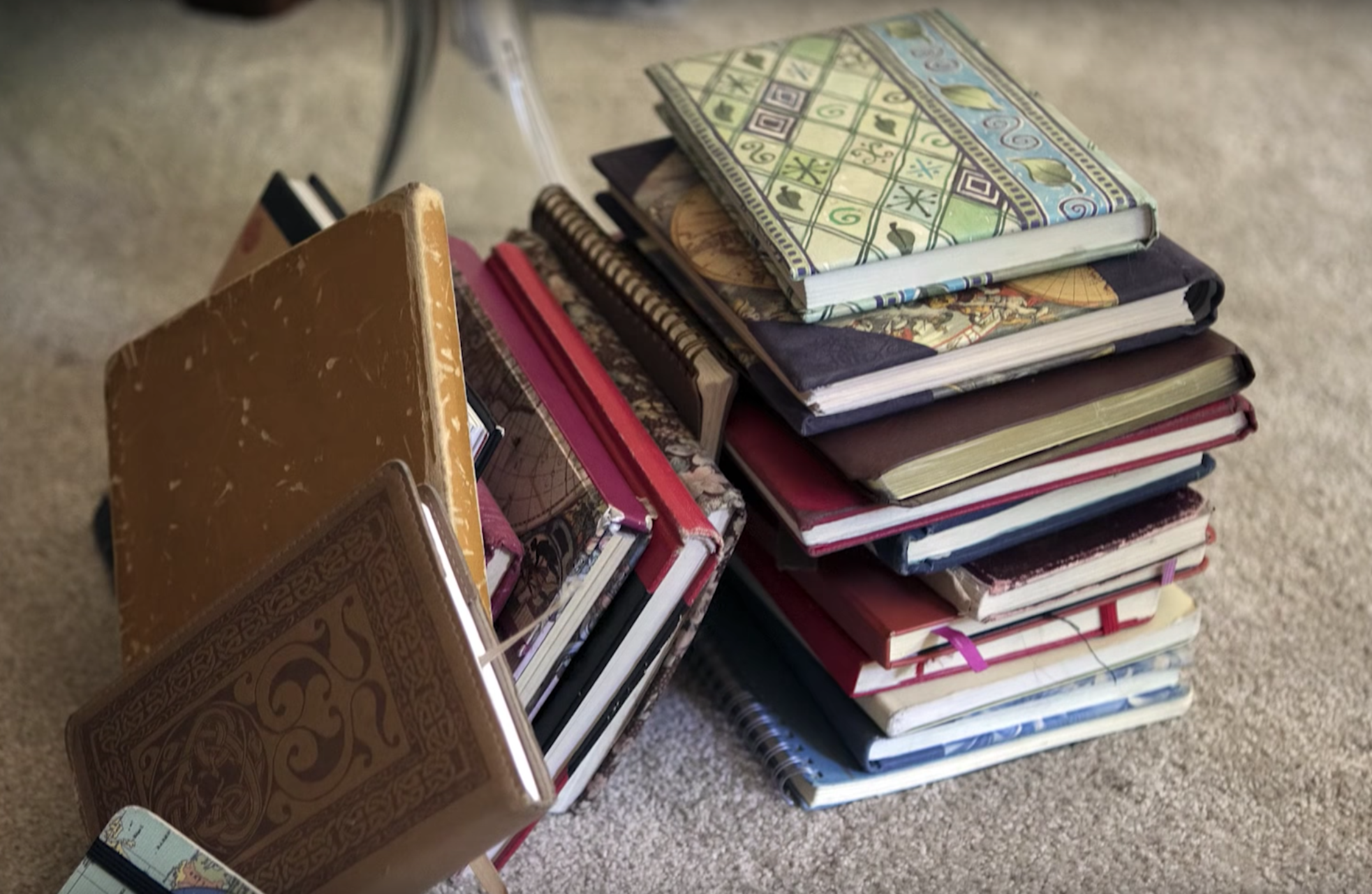 Juli has kept a journal, many journals in fact. And she read them all en masse, three years ago.