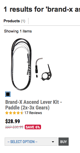 Brand-X Ascend Dropper Lever Kit V2-1 x Gears