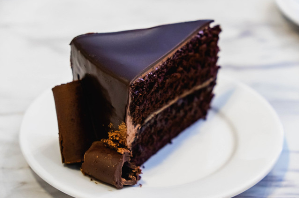 A good piece of chocolate cake