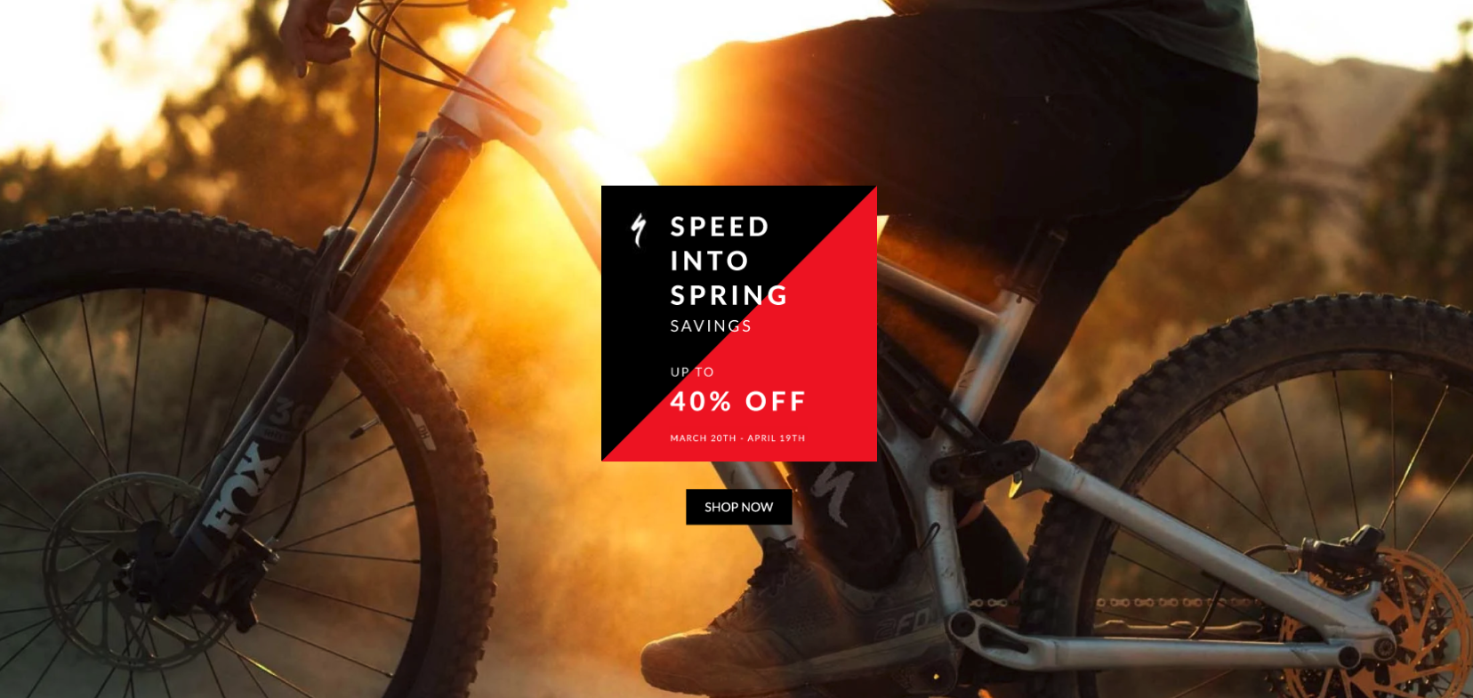 Speed into spring with deals on Specialized tires, pumps, shoes and more!