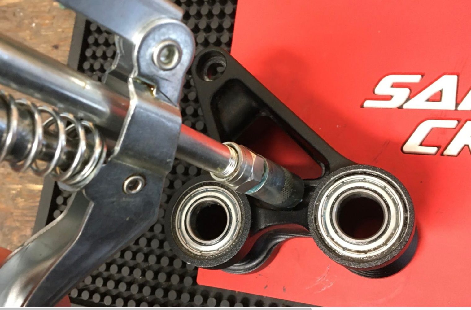 One thing many riders overlook is checking on the condition of their bike suspension linkages—that is, the bearings and hardware they run on.