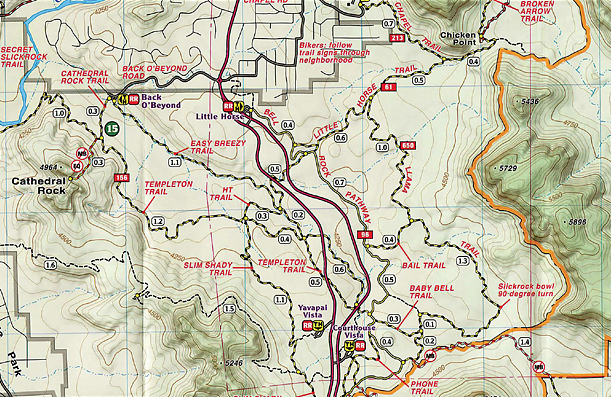 Map Of Arizona Including Sedona.Best And Most Up To Date Sedona Trail Map Mtbr Com