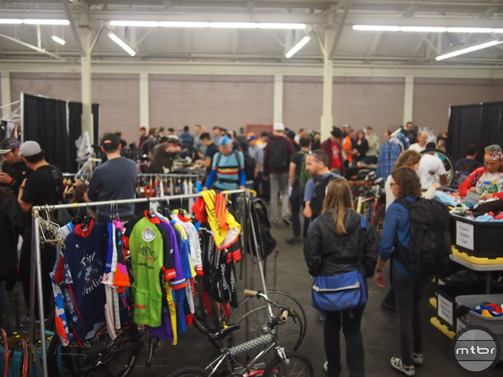A shot of the swap hall, come early for the best deals and selection.