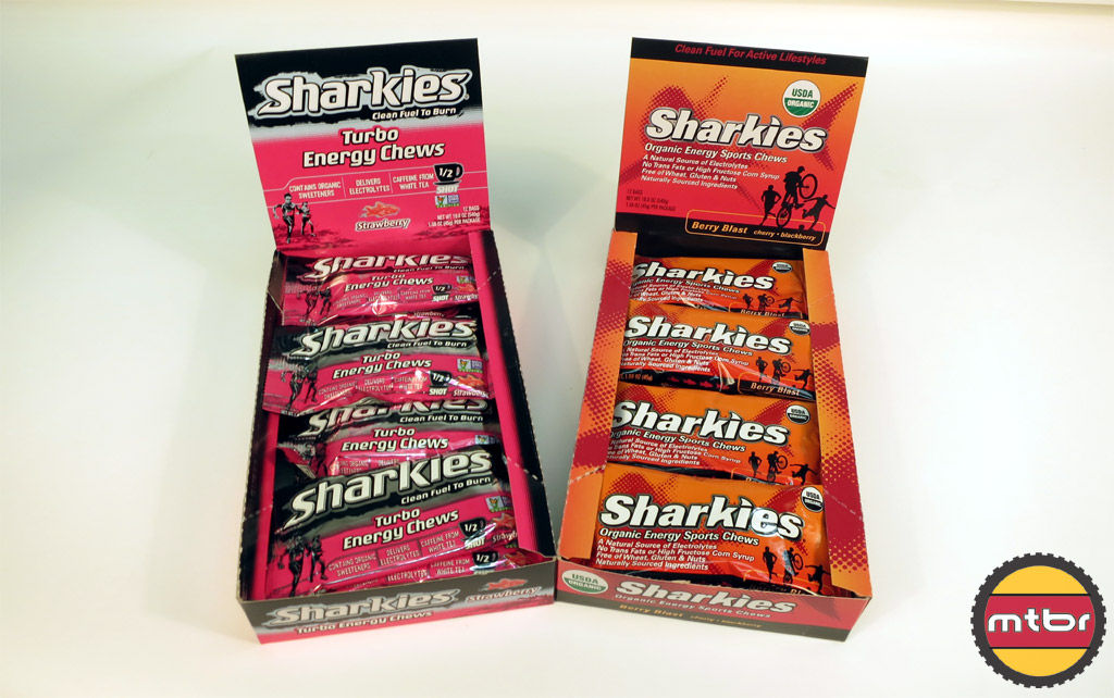 Sharkies Turbo and Berry Blast Sports Chews