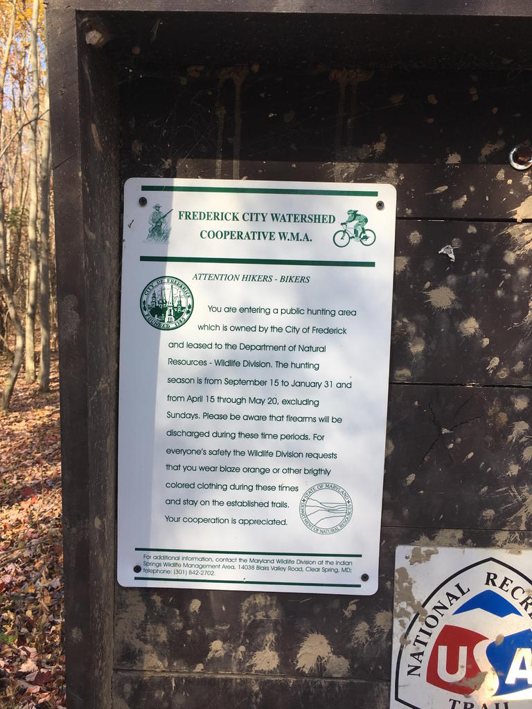 hunting season warning for Frederick water shed users-shedsign1.jpg