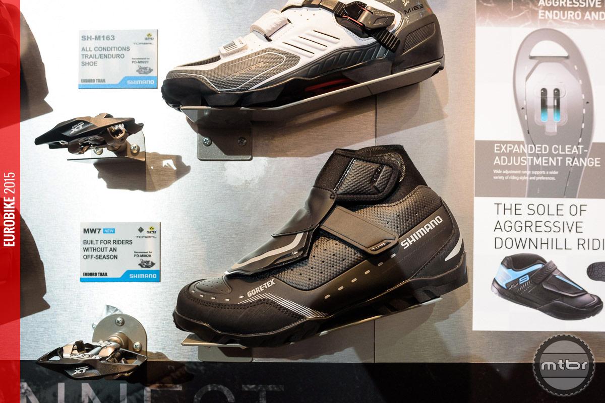 Shimano MW7 Mountain Touring shoe.