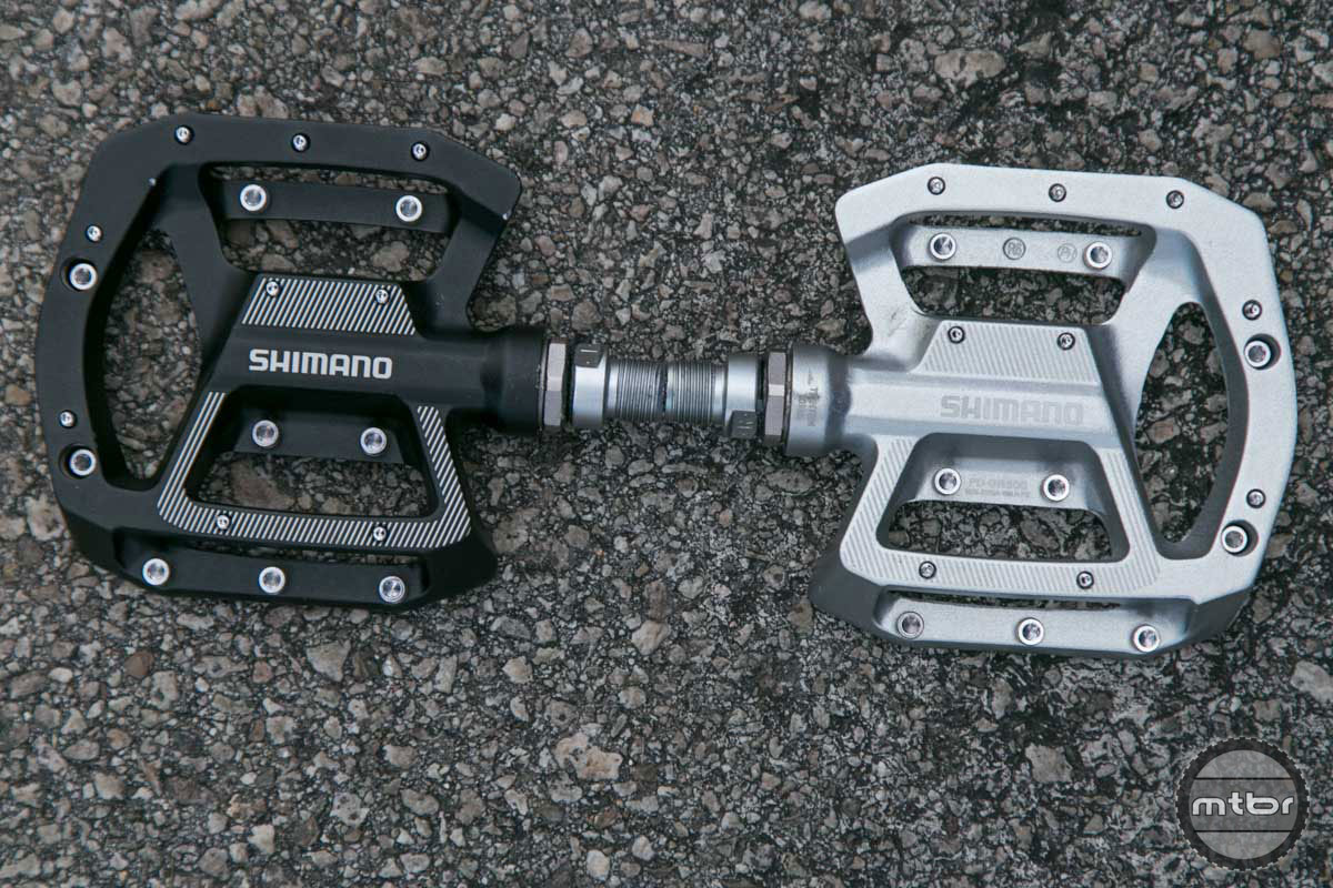 new shimano flat pedals and saint spds mountain bike. Black Bedroom Furniture Sets. Home Design Ideas