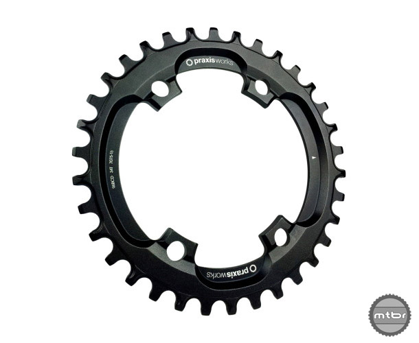 Praxis claims that these chainrings must be used with a 'Clutch' type rear derailleur. Ex. Shimano Shadow or SRAM Type 2.