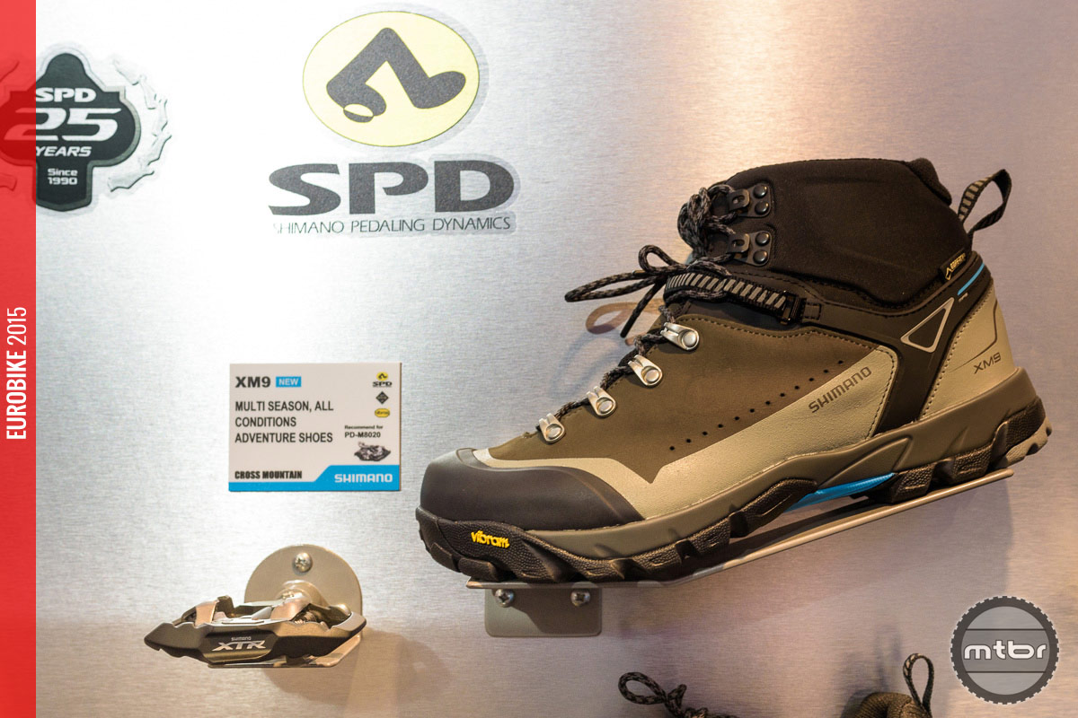Shimano XM9 Mountain Touring shoe.
