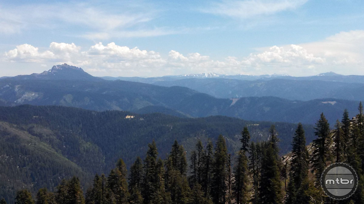 An unobstructed view of the Sierra Buttes from the top of Saddleback.
