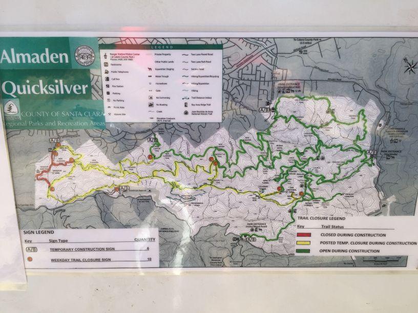 PSA: Almaden Quicksilver Trail Closings- Mtbr.com