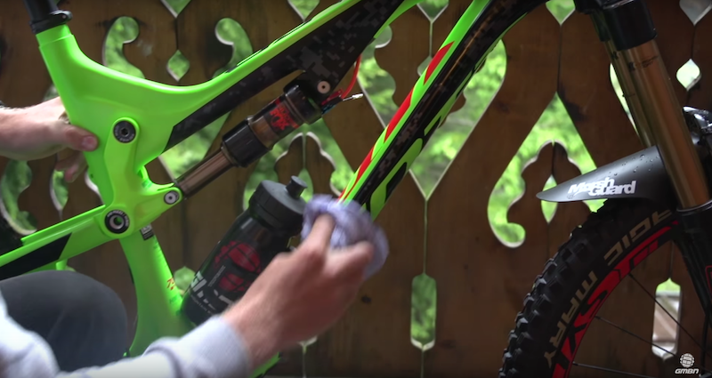 Using silicone spray and moto foam will help keep mud from building up on your frame.