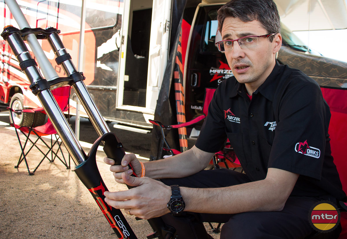 Simone Bassi and Marzocchi 380 DH Fork