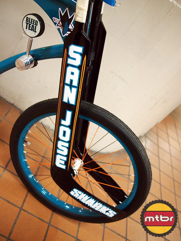 SJ Sharks Bike - hockey sticks