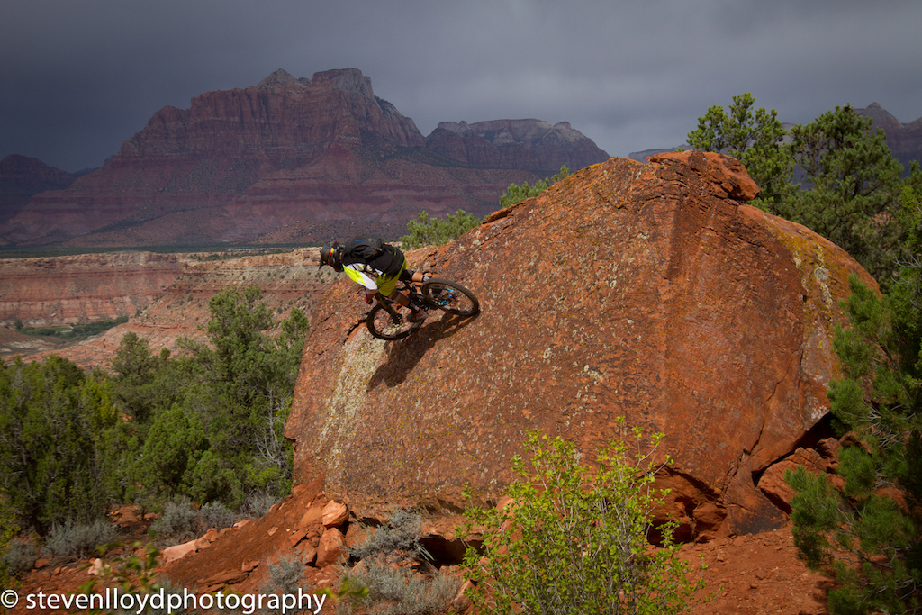 Logan Whitehead - Wall Ride With A Zion National Park Backdrop