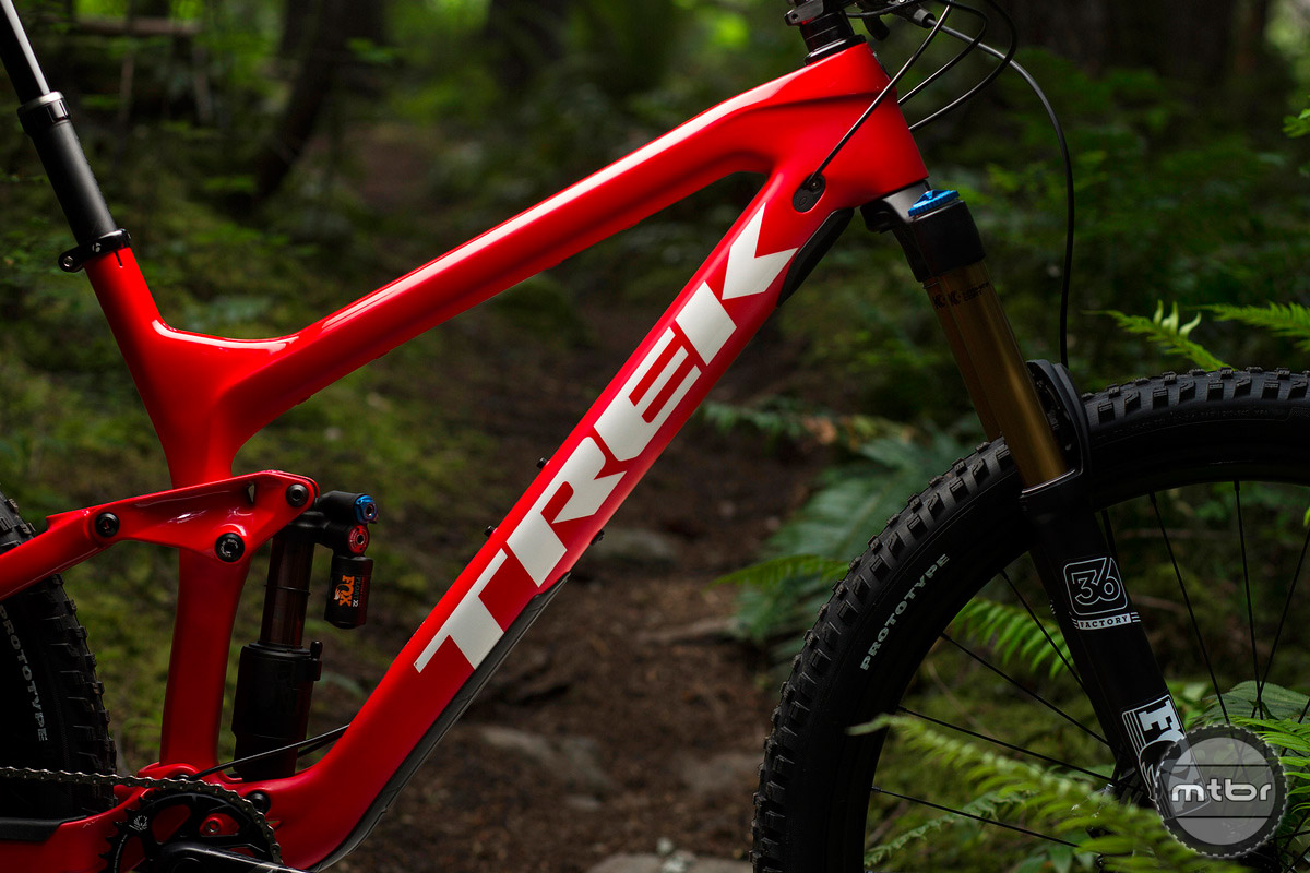 The downtube meets the headtube in a straight shot to provide maximum stiffness.