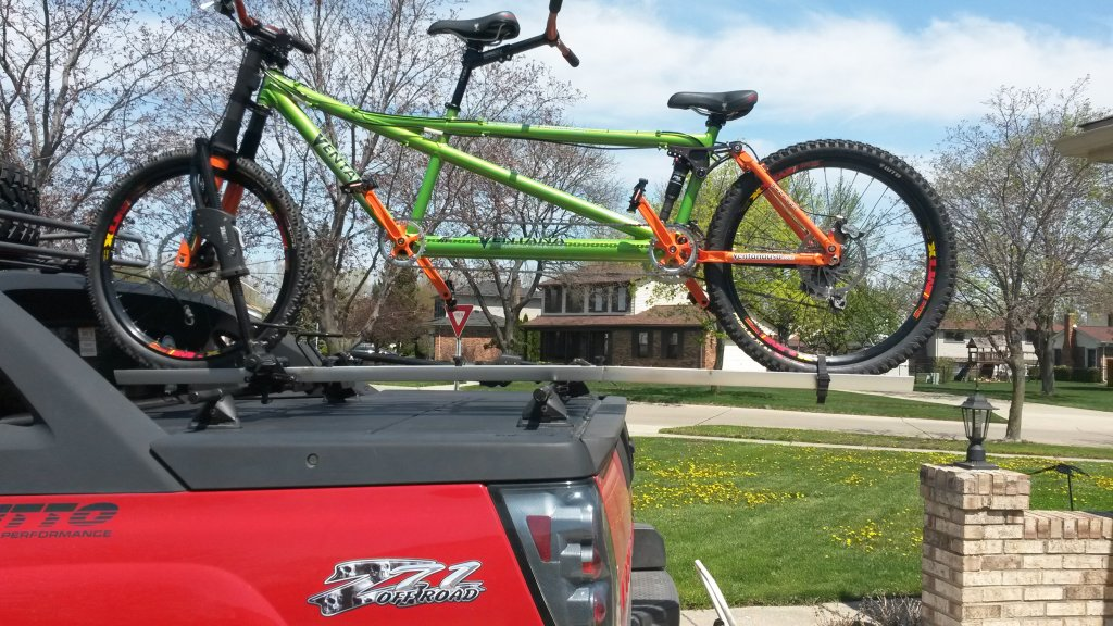 Custom Tandem Roof Rack: Carries the Tandem with the Wheels On!-smaller-tandem.jpg