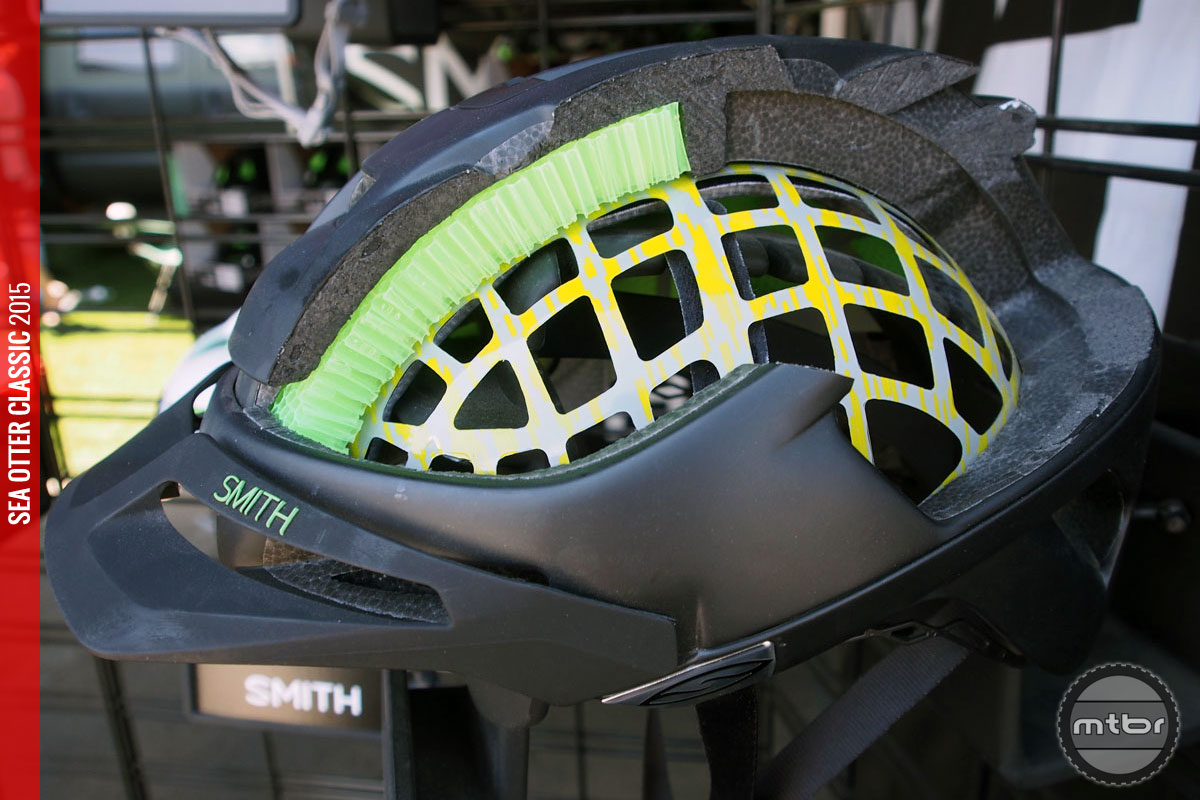 An inside look at Smith's Aerocore construction featuring Koroyd, which creates a low volume helmet with ventilated protection.
