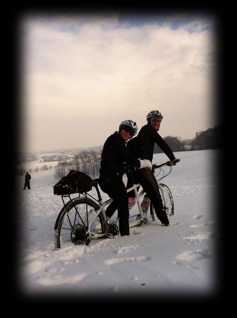 Neat places you have ridden your tandem, please add photos if you have them-snow-training.jpg