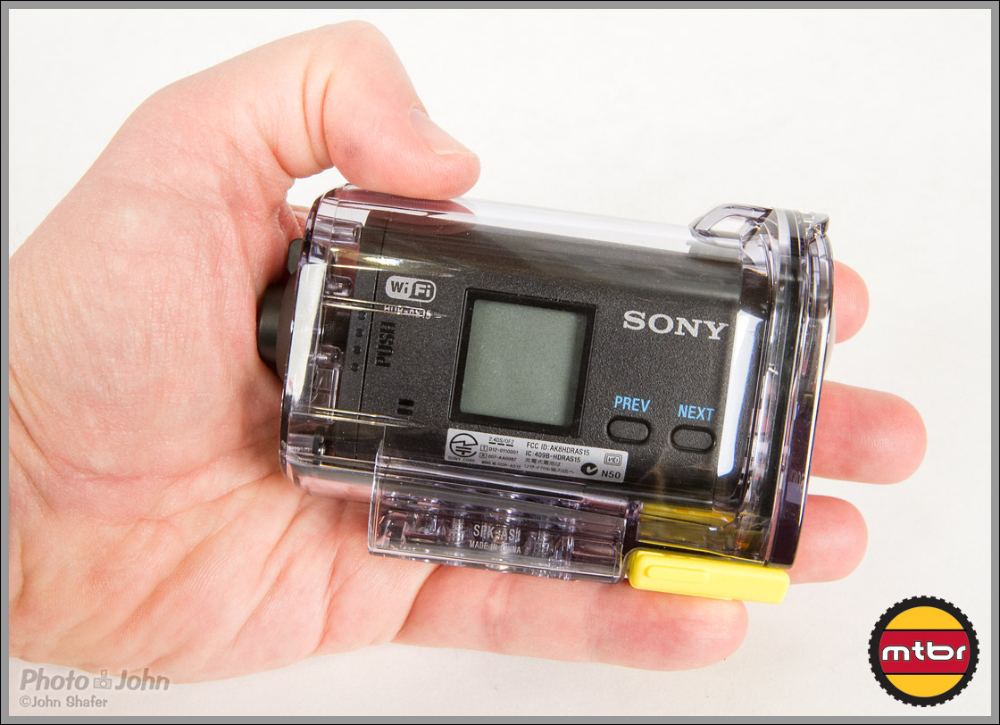 Sony Action Cam - Underwater Case In Hand
