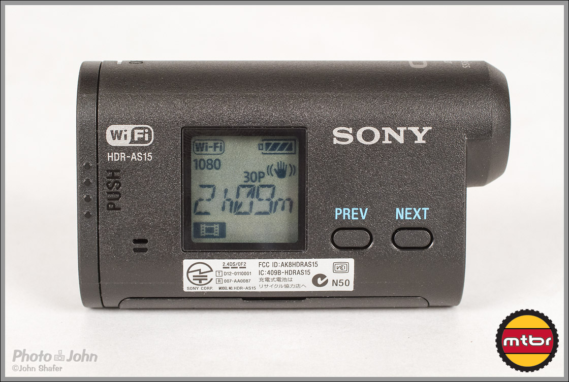 Sony Action Cam - LCD Display