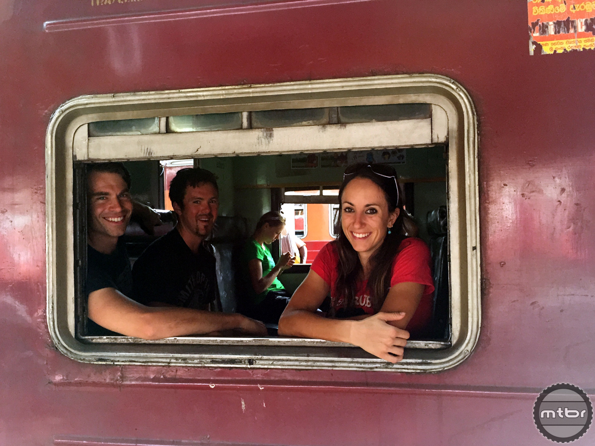 Sonya and friends travel by rail.