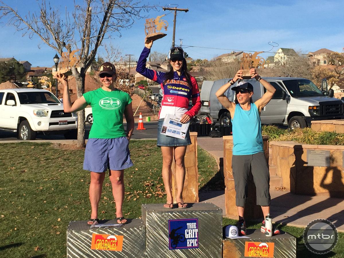 Strong NUE podium Sonya Looney (1); Amanda Carey (2); Brenda Simril (3)