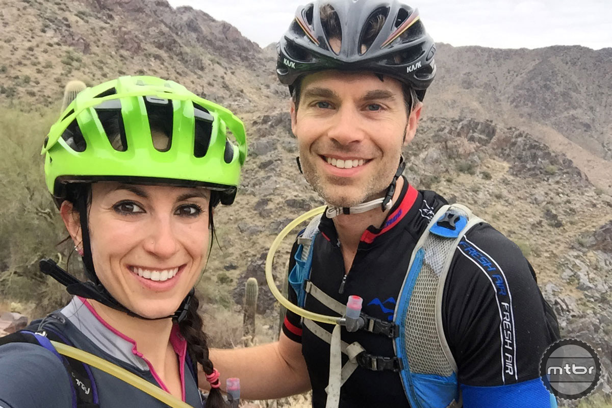 Sonya and her husband Matt have found the happy place when riding together.