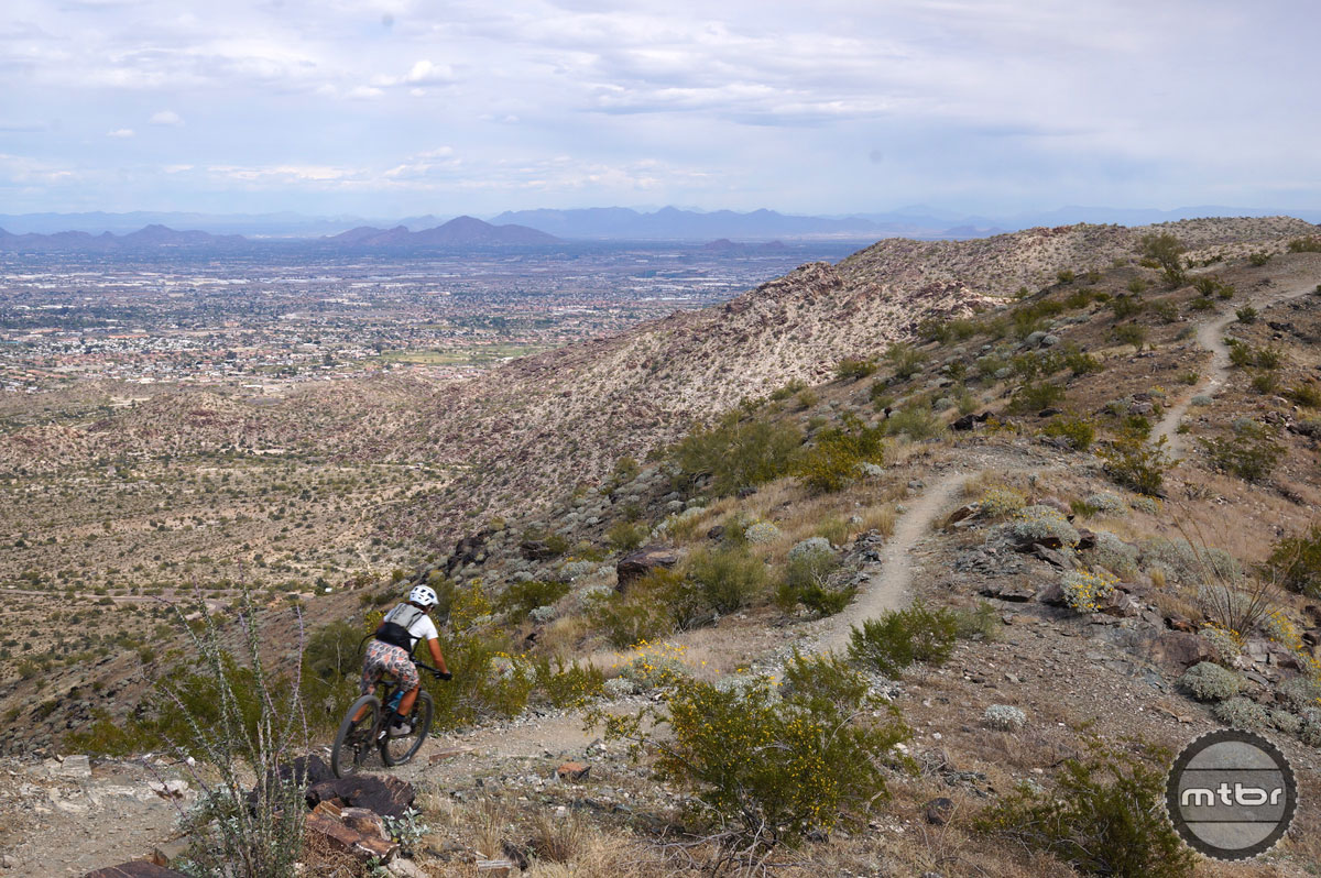 South Mountain is known for its technical, rocky nature, and features an array of trails for Intermediate and Expert level riders. Photo by Jordan Carr