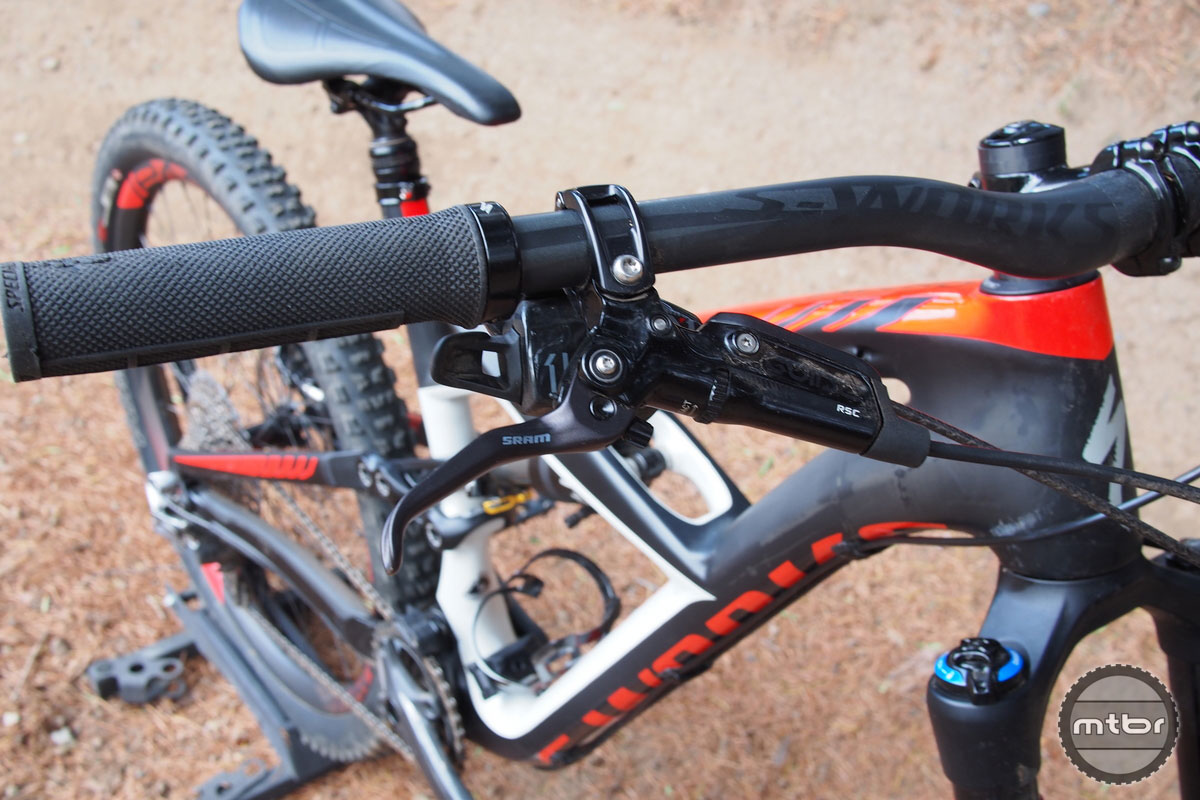 Specialized Enduro S-Works with Avid Guide Brake Levers