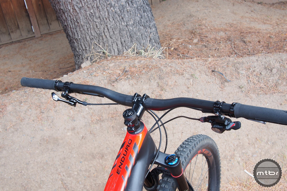 Specialized Enduro S-Works with Symmetrical Dropper Post Lever