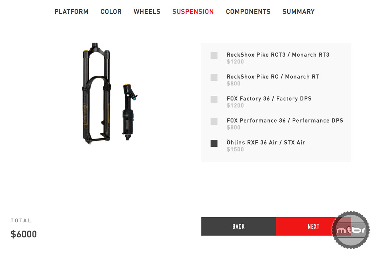 Specialized Make it Yours Customization Configurator 2017